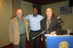 F77731 Samuel Manhom - is inducted as Honorary Member of Rotary Club of Manningham - (our ambassador for the Rumbek primary school project [South Sudan ]) Rotary 26Nov 20121