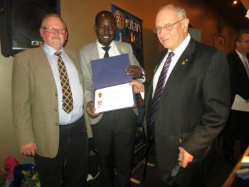 F82328    Congratulations to Paul Harris Fellow  Samuel Manhom     Change-over Night    Rotary   07July 2014